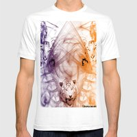 Tiger Family Mens Fitted Tee White SMALL