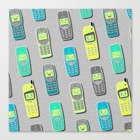 Vintage Cellphone Patter… Canvas Print
