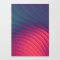 Reservoir Lines Canvas Print