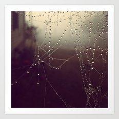 Amethyst Fog on Strings of Pearls Art Print