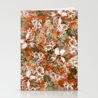 Tropical Orange Stationery Cards