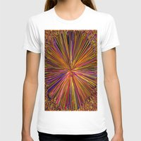 Abstract 3D Art Womens Fitted Tee White SMALL
