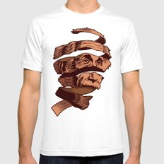 E=M.C. Escher Mens Fitted Tee White SMALL