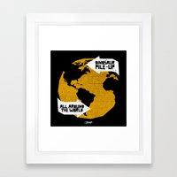 7 inch series: Dinosaur Pile-up - all around the world Framed Art Print