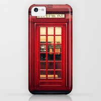 iPhone 5c Cases featuring Magical Telephone Booth by Emiliano Morciano (Ateyo)