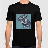 Benji The Schnoodle Mens Fitted Tee Black SMALL