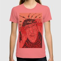 ST1 Womens Fitted Tee Pomegranate SMALL