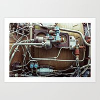 Rusting Engine Art Print