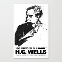 H.G. Wells Last Words Canvas Print