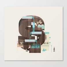 Resort Type - Letter S Canvas Print