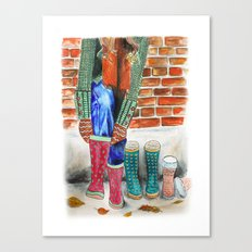 Autumn shoes Canvas Print