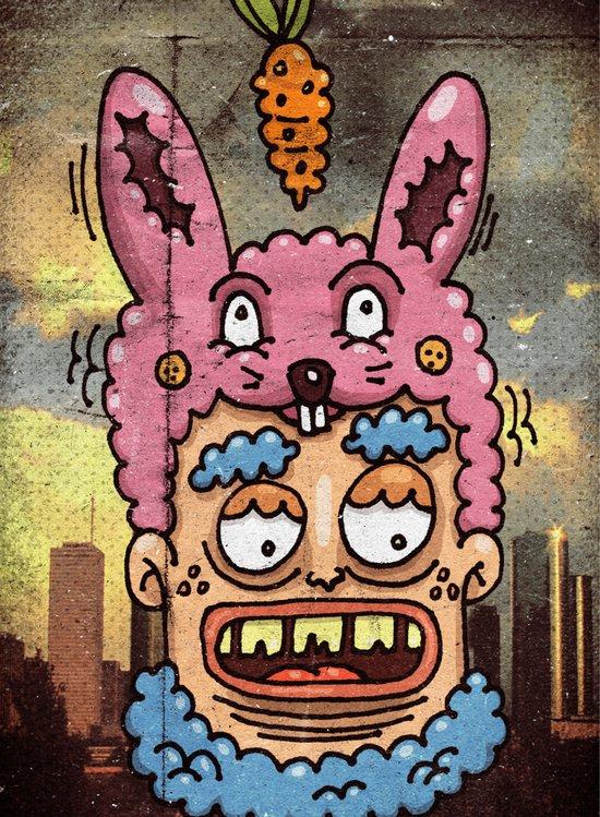 Happy Rabbit Canvas Print