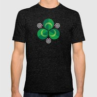 White Clover Mens Fitted Tee Tri-Black SMALL