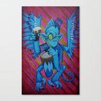 Chris' Flying Monkey Canvas Print