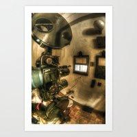 The projector  Art Print
