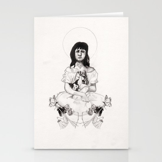 The Girl With Half a Lung Stationery Card