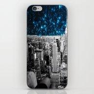 Starry Teal Night iPhone & iPod Skin