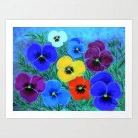 Painted Pansies Art Print
