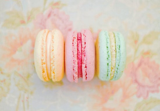 Happy Macarons Art Print