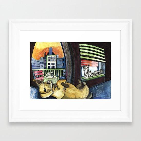 Roxy and Friends  Framed Art Print