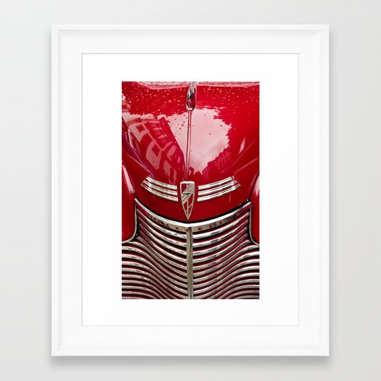 red chevy Framed Art Print