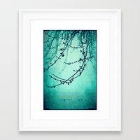 Fog of Green Framed Art Print