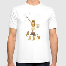 Little Fox Girl Mens Fitted Tee White SMALL