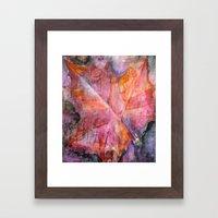 Leaf Rubbing Framed Art Print
