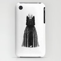 iPhone Cases featuring The Wolf King by DB Art