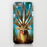 Princess Mononoke The Deer God Shishigami Tra Digital Painting. iPhone 6 Slim Case