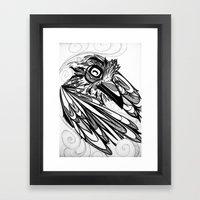 Raven's Escape Framed Art Print