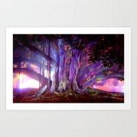 Tree Illuminated Art Print