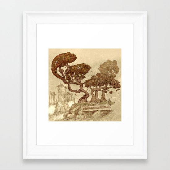 Autumn Chameleons  Framed Art Print
