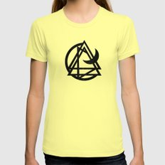Dos Lunas Womens Fitted Tee Lemon SMALL