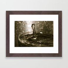 drip, drip, drip Framed Art Print