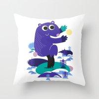Taiji Panda Throw Pillow