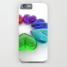 Rainbow Hearts iPhone 6 Slim Case