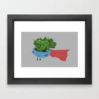 Super Salad Framed Art Print