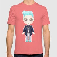 TOP from Bigbang Mens Fitted Tee Pomegranate SMALL