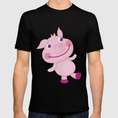 Pigg'o SMALL Mens Fitted Tee Black