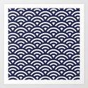 Japanese Waves Art Print