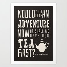 Peter Pan - Shall We Have Our Tea First Art Print