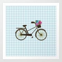bike Art Prints featuring Bike by Juliana Zimmermann