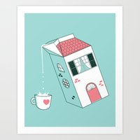 Housepour Art Print