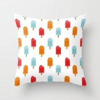 Ice Lollies Pattern Throw Pillow