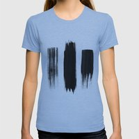 Black lines Womens Fitted Tee Athletic Blue SMALL