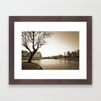 Winter Along The Seine Framed Art Print