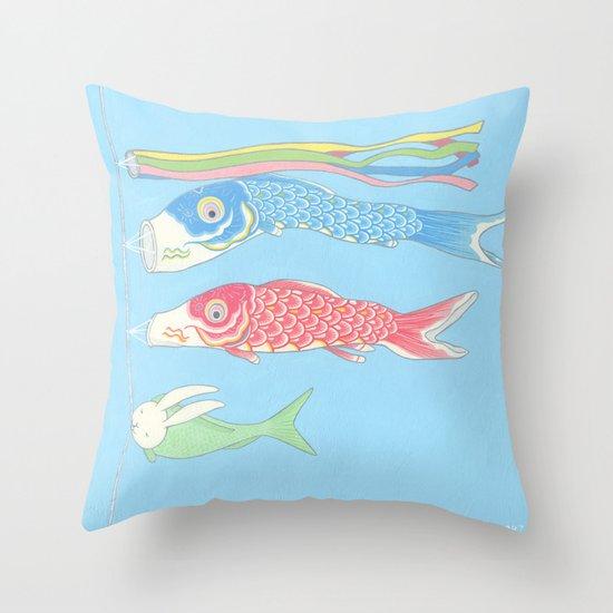 Usagikoinobori Throw Pillow