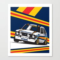 Ford Escort RS2000 Canvas Print