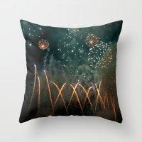 Fireworks Face Throw Pillow